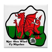 Wales Fist 1881 Tile Coaster