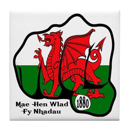 Wales Fist 1881 Tile Coaster
