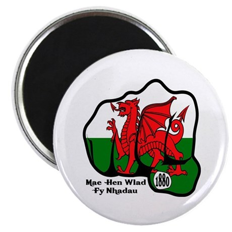 """Wales Fist 1881 2.25"""" Magnet (10 pack)"""