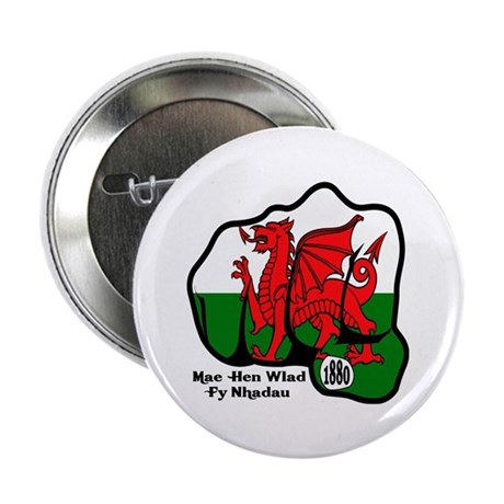 """Wales Fist 1881 2.25"""" Button (100 pack)"""