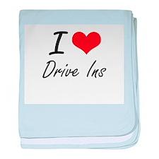 I love Drive Ins baby blanket
