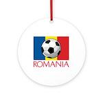 Romanian Soccer (2) Ornament (Round)