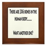 206 Bones in the human body Framed Tile