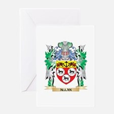 Allan Coat of Arms - Family Crest Greeting Cards