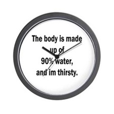 Body is made of water Wall Clock