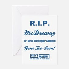 RIP MCDREAMY Greeting Cards
