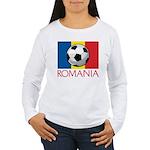Romanian Soccer (2) Women's Long Sleeve T-Shirt