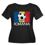 Romanian Soccer (2) Women's Plus Size Scoop Neck D