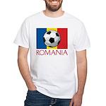 Romanian Soccer (2) White T-Shirt