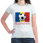 Romanian Soccer (2) Jr. Ringer T-Shirt