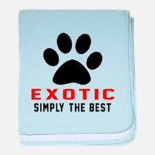 Exotic Simply The Best Cat Designs baby blanket