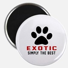 "Exotic Simply The Best Cat 2.25"" Magnet (100 pack)"