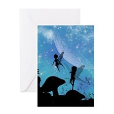 Wonderful fairy silhouette Greeting Cards