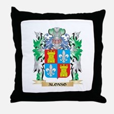 Alonso Coat of Arms - Family Crest Throw Pillow