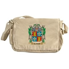 Alonso Coat of Arms - Family Crest Messenger Bag