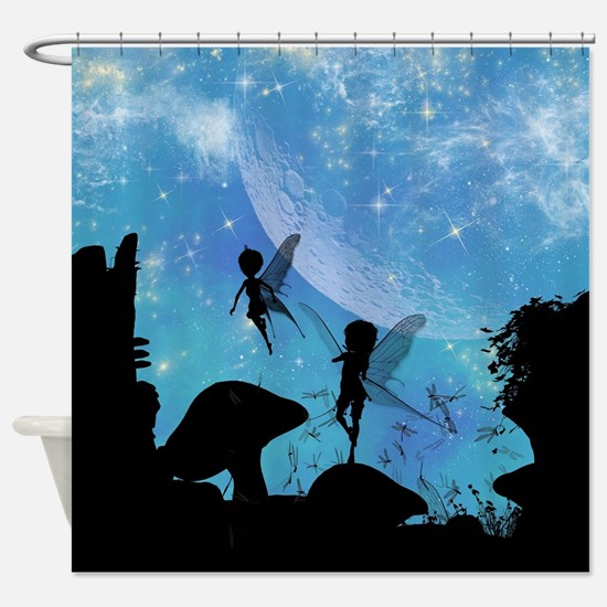 Wonderful fairy silhouette Shower Curtain