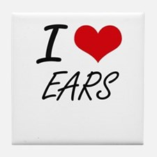 I love EARS Tile Coaster