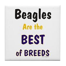 Beagle Dog Best Of Breeds Tile Coaster
