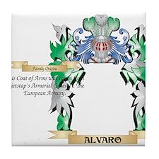 Alvaro Coat of Arms - Family Crest Tile Coaster