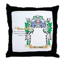Alvaro Coat of Arms - Family Crest Throw Pillow