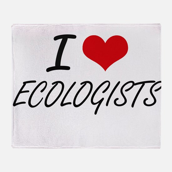 I love ECOLOGISTS Throw Blanket