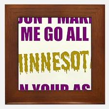 Minnesota Football Framed Tile