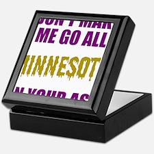 Minnesota Football Keepsake Box