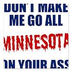 Minnesota Baseball Square Car Magnet 3