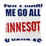 Minnesota Baseball Woven Throw Pillow