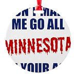 Minnesota Baseball Round Ornament