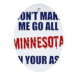 Minnesota Baseball Oval Ornament