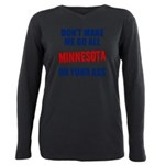 Minnesota Baseball Plus Size Long Sleeve Tee