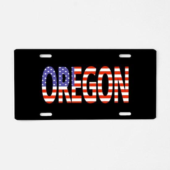 Patriotic Oregon Aluminum License Plate