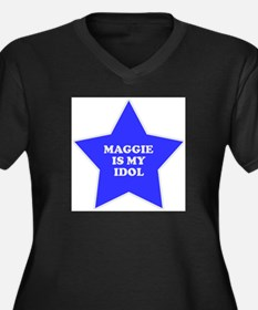 star-maggie.png Women's Plus Size V-Neck Dark T-Sh