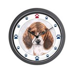 Beagle Dog Paws Wall Clock