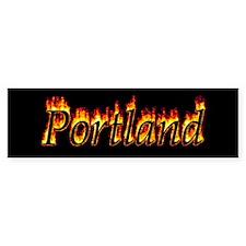 Portland Flame Bumper Bumper Sticker