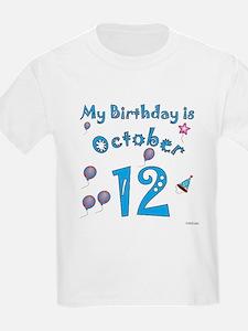 October 12th Birthday T-Shirt