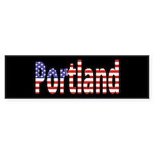 Patriotic Portland Bumper Bumper Sticker