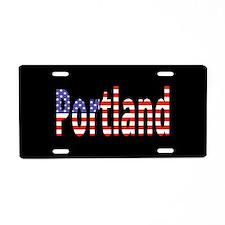 Patriotic Portland Aluminum License Plate