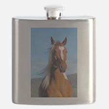 Pinto Arabian portrait Flask