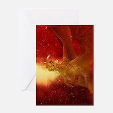 Golden Dragon Greeting Cards