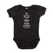 PROVERBS 31:25 Baby Bodysuit