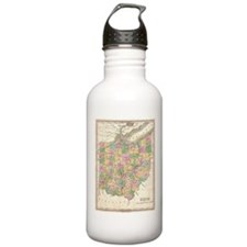 Vintage Map of Ohio (1 Water Bottle