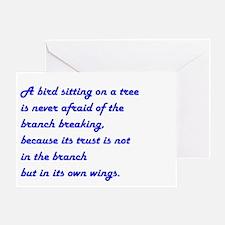 A BIRD SITTING... Greeting Card