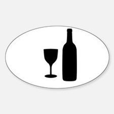 Wine Silhouette Decal