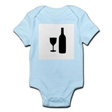 Wine Silhouette Body Suit