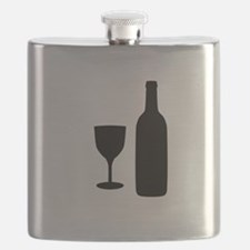 Wine Silhouette Flask