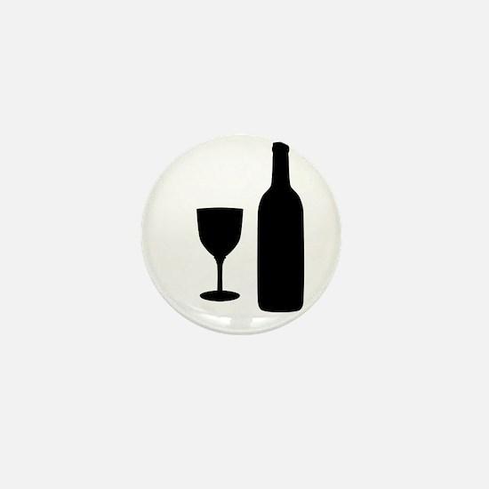 Wine Silhouette Mini Button
