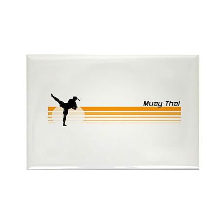 Muay Thai Rectangle Magnet
