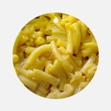 Macaroni And Cheese Round Ornament